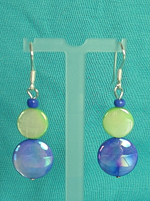 #E321G Colorful Mother of Pearl Shell Earrings
