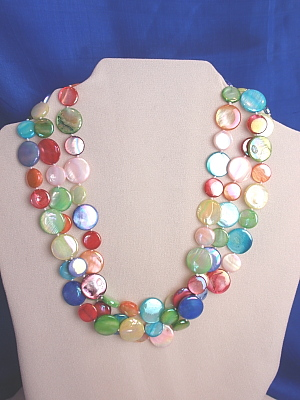 #F174A Triple Strand Multi Mother of Pearl