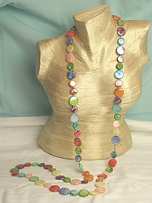 #F174L-1 Single Strand of Multi Mother of Pearl