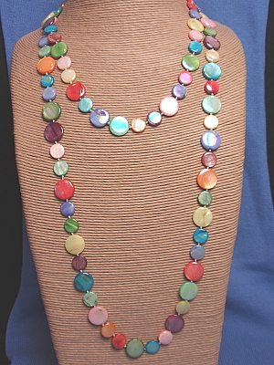 """#F174X 50"""" Multi Mother of Pearl Necklace"""