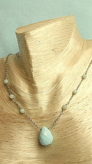 "#F283 16"" Amazonite Necklace"