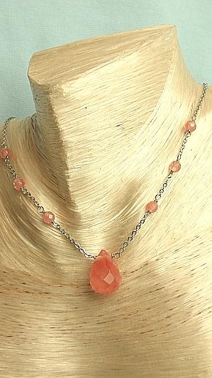 #F284 Rose Quartz Necklace
