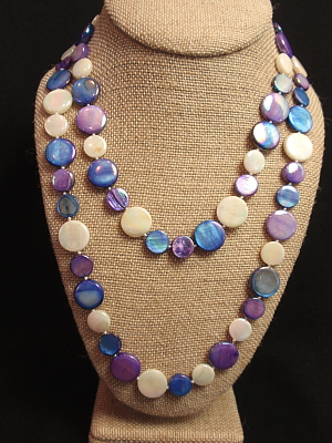 """#F531L 39"""" Violet Navy and White Mother of Pearl"""