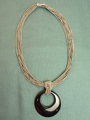 #F539 Stainless Steel with Agate Pendant