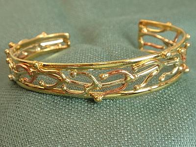 #LE416 Trimetal Cuff Bracelet Small