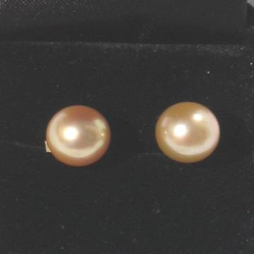 # LU8 10.5mm Gold South Sea pearl earrings