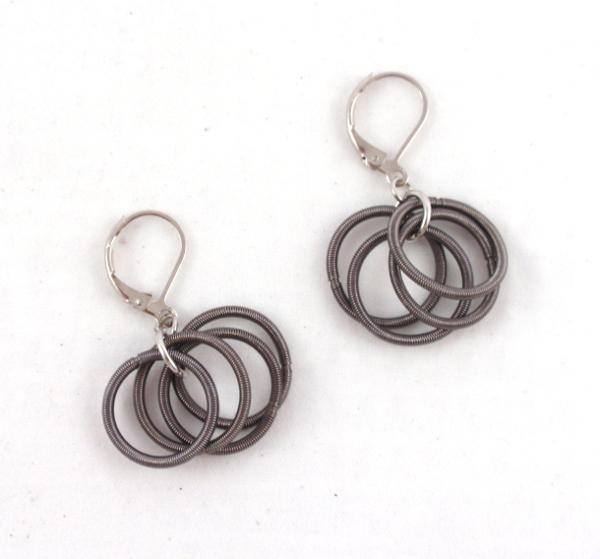 78e5d3e9d E448CCharcoal stainless steel hoop earrings – The Island Pearl