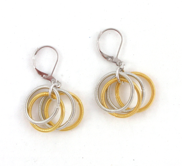 269834b17 E448GS Gold and silver stainless steel earrings – The Island Pearl