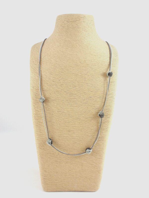 The Island Pearl Piano Wire Necklace